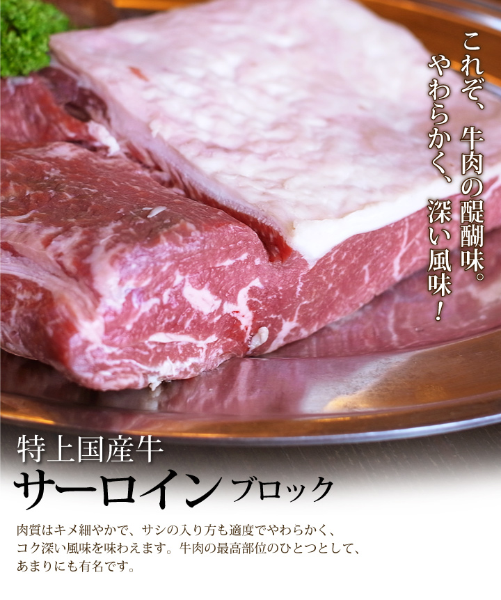 国産牛サーロイン&黒毛和牛スジ肉セット